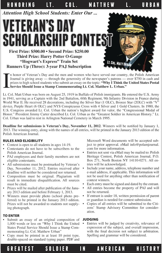 Polish american journal essay contest
